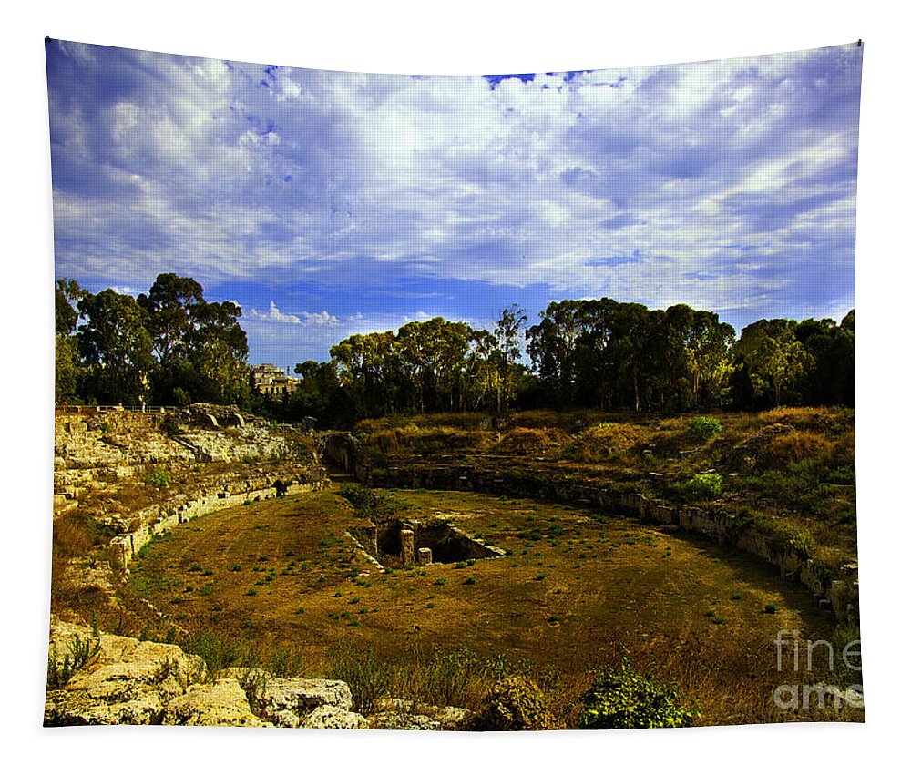 Ancient Tapestry featuring the photograph A Ruin In Sicily by Madeline Ellis