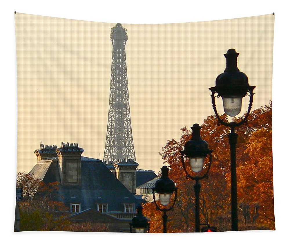 Paris Tapestry featuring the photograph A Slice Of Paris by Eric Tressler