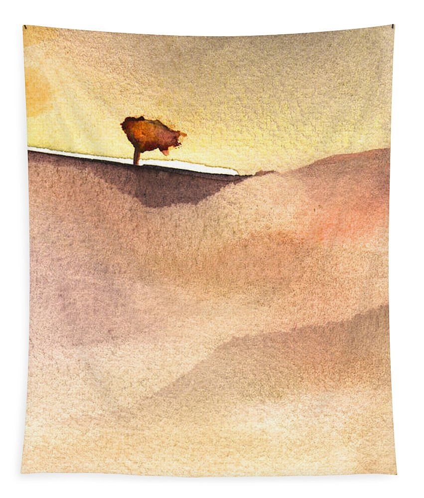 Aquarelle Tapestry featuring the painting A Tree by Miki De Goodaboom