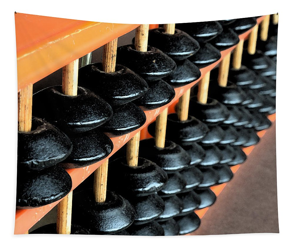 Abacus Tapestry featuring the photograph abacus III by Bill Owen