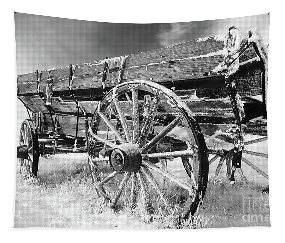 Black And White Tapestry featuring the photograph Farming Nostalgia by Bob Christopher