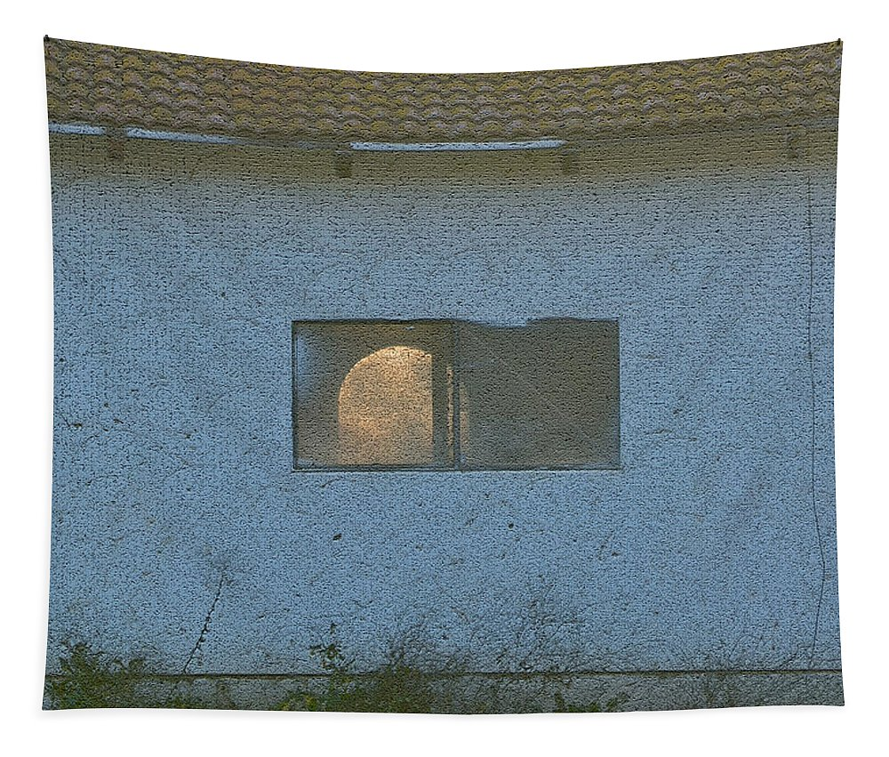 Farm Tapestry featuring the photograph Abandoned Building by Bill Owen