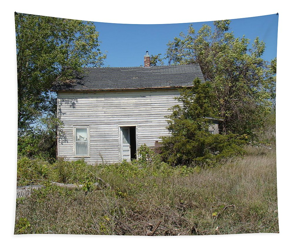 Abandoned Tapestry featuring the photograph Abandoned by Bonfire Photography