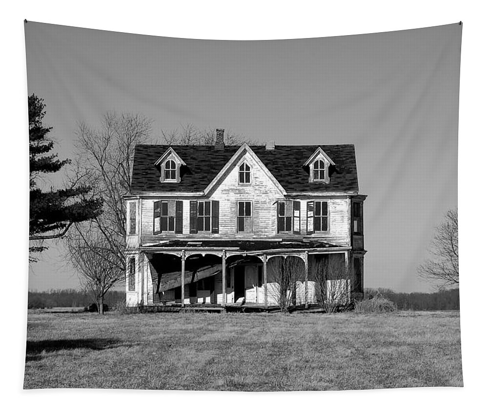 Farmhouse Tapestry featuring the photograph Abandoned IIi by Richard Ortolano