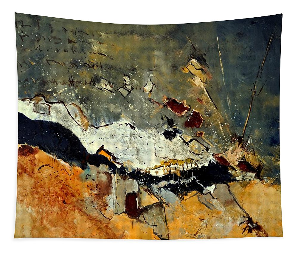 Abstract Tapestry featuring the painting Abstract 1811014 by Pol Ledent
