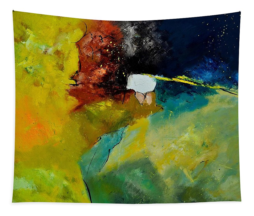 Abstract Tapestry featuring the painting Abstract 1811804 by Pol Ledent