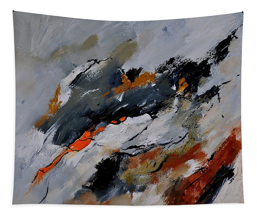 Abstract Tapestry featuring the painting Abstract 66217020 by Pol Ledent