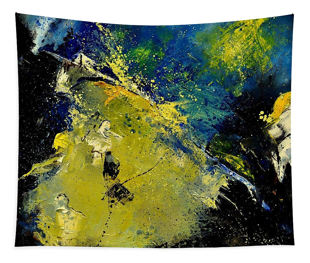 Abstract Tapestry featuring the painting Abstract 66217090 by Pol Ledent