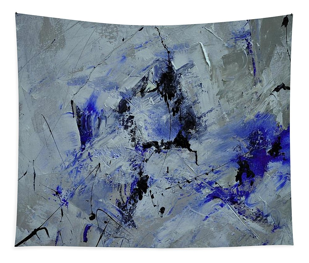 Abstract Tapestry featuring the painting Abstract 6911212 by Pol Ledent