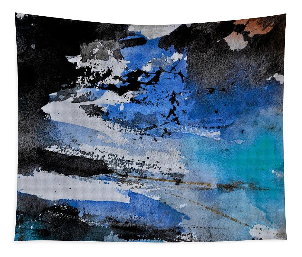 Abstract Tapestry featuring the painting Abstract 69211050 by Pol Ledent