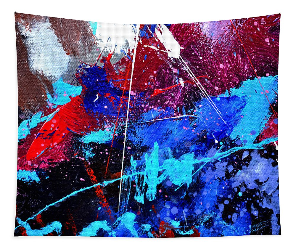 Abstract Tapestry featuring the painting Abstract 71001 by Pol Ledent