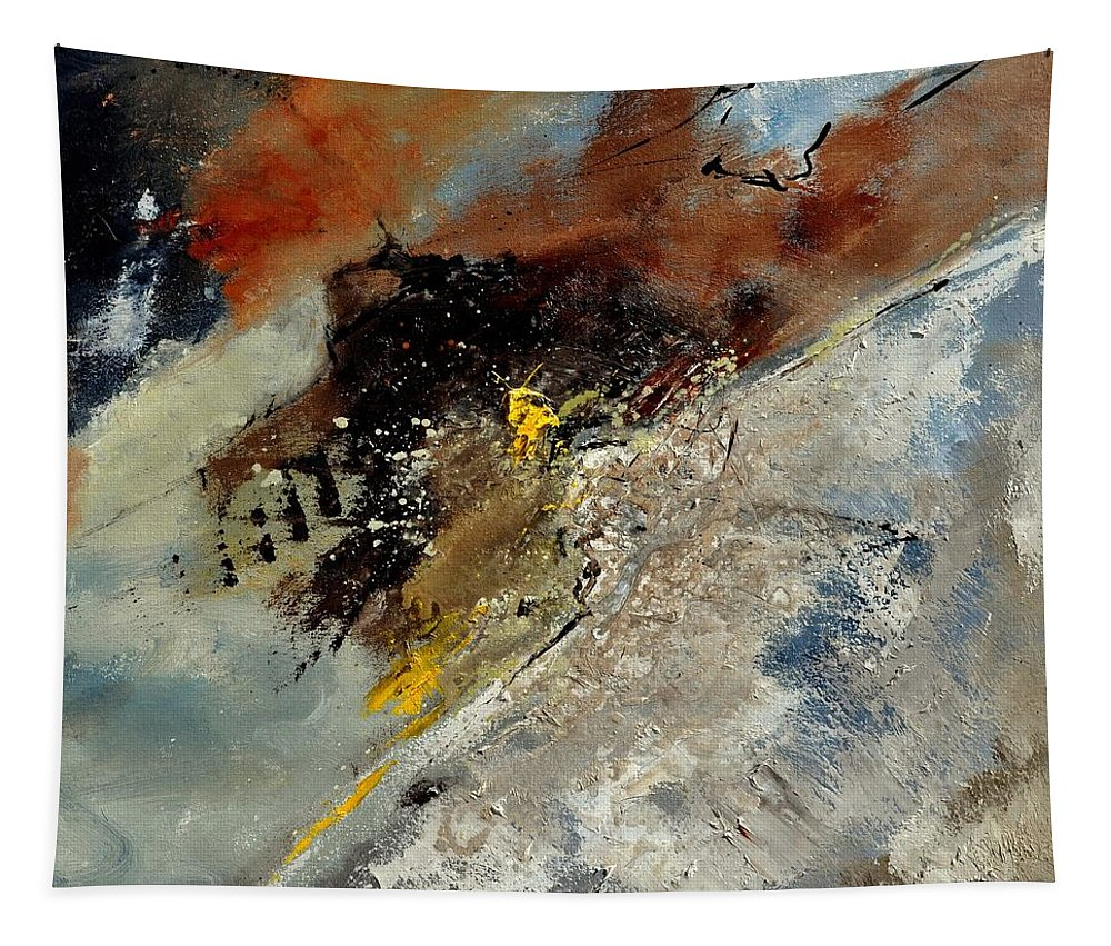 Abstract Tapestry featuring the painting Abstract 7721601 by Pol Ledent