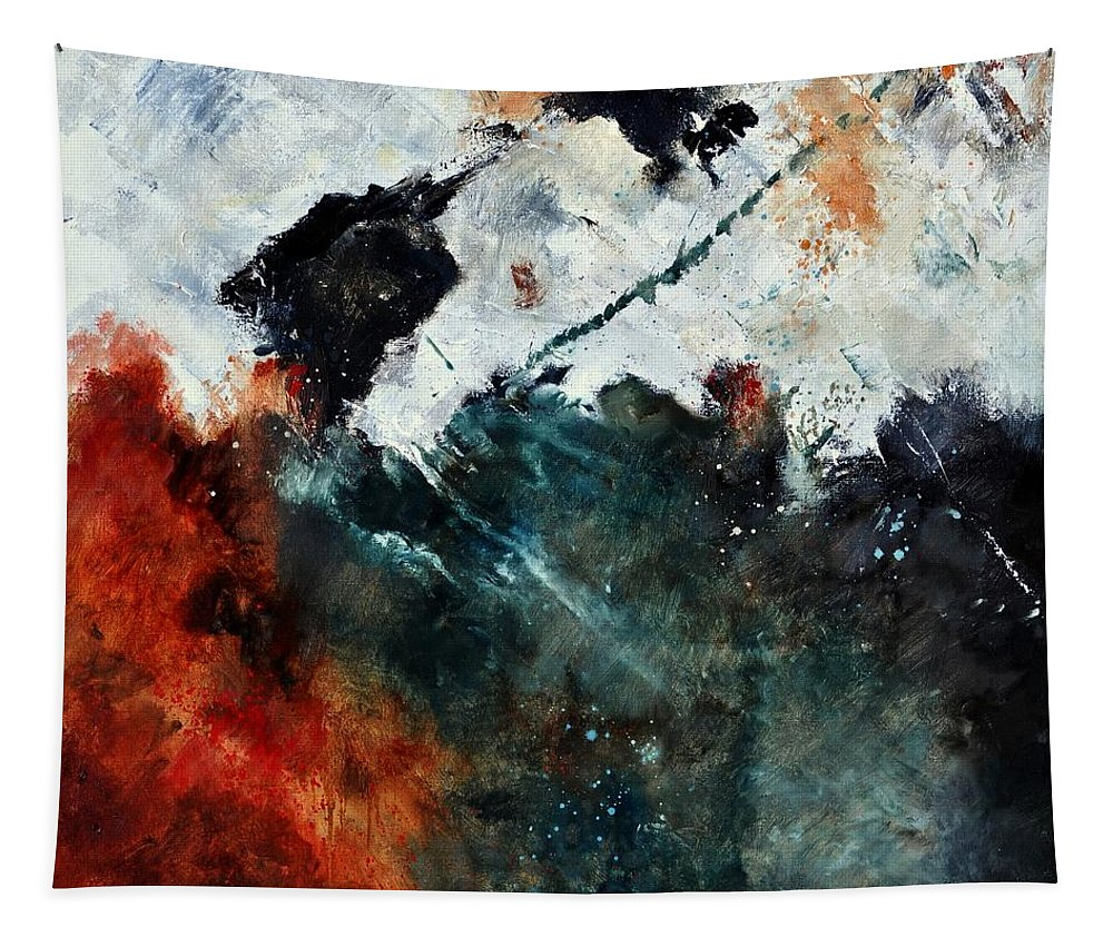 Abstract Tapestry featuring the painting Abstract 881101 by Pol Ledent