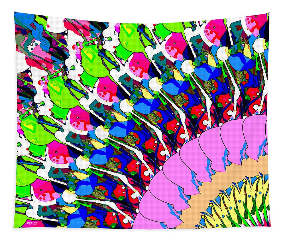 Abstract Tapestry featuring the digital art Abstract Digital Art by Phil Perkins