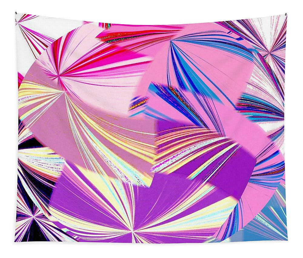 Abstract Fusion Tapestry featuring the digital art Abstract Fusion 41 by Will Borden