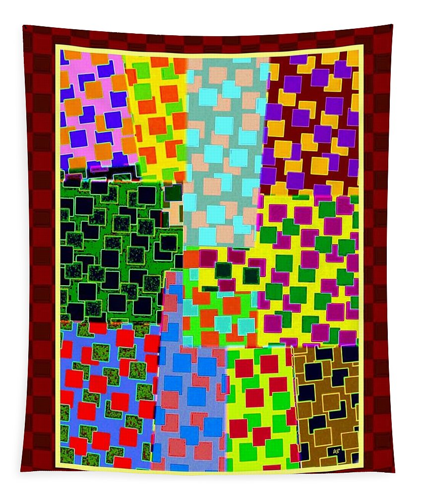 Abstract Fusion Tapestry featuring the digital art Abstract Fusion 43 by Will Borden