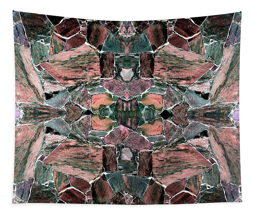 Abstract Fusion Tapestry featuring the digital art Abstract Fusion 68 by Will Borden