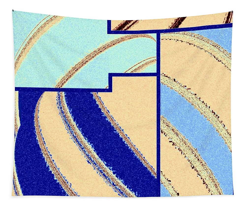 Abstract Fusion Tapestry featuring the digital art Abstract Fusion 94 by Will Borden