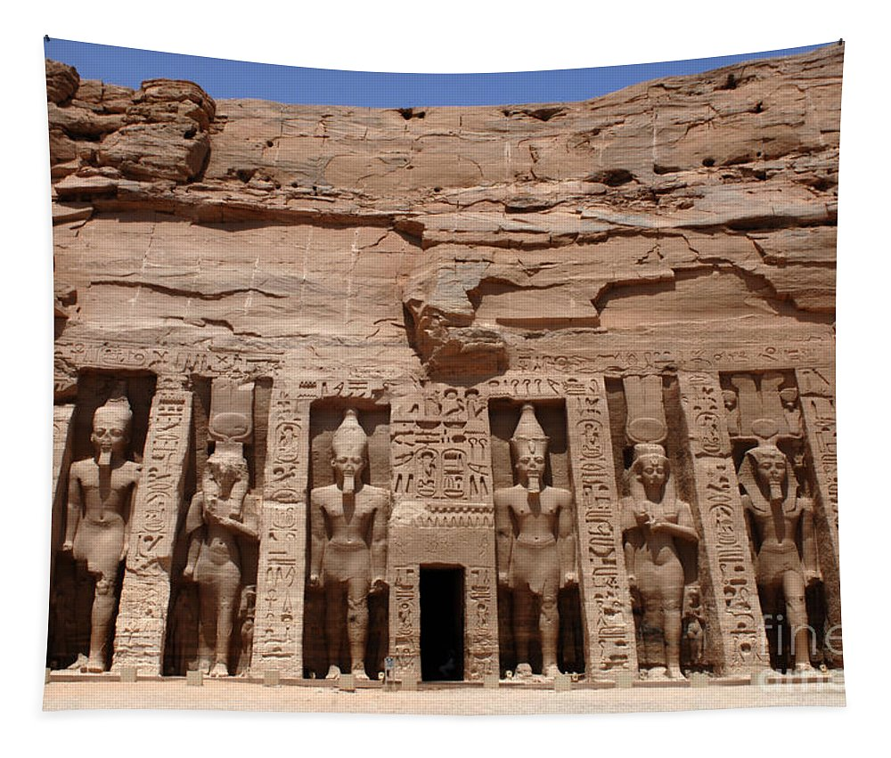 Abu Simbel Tapestry featuring the photograph Abu Simbel Egypt 3 by Bob Christopher