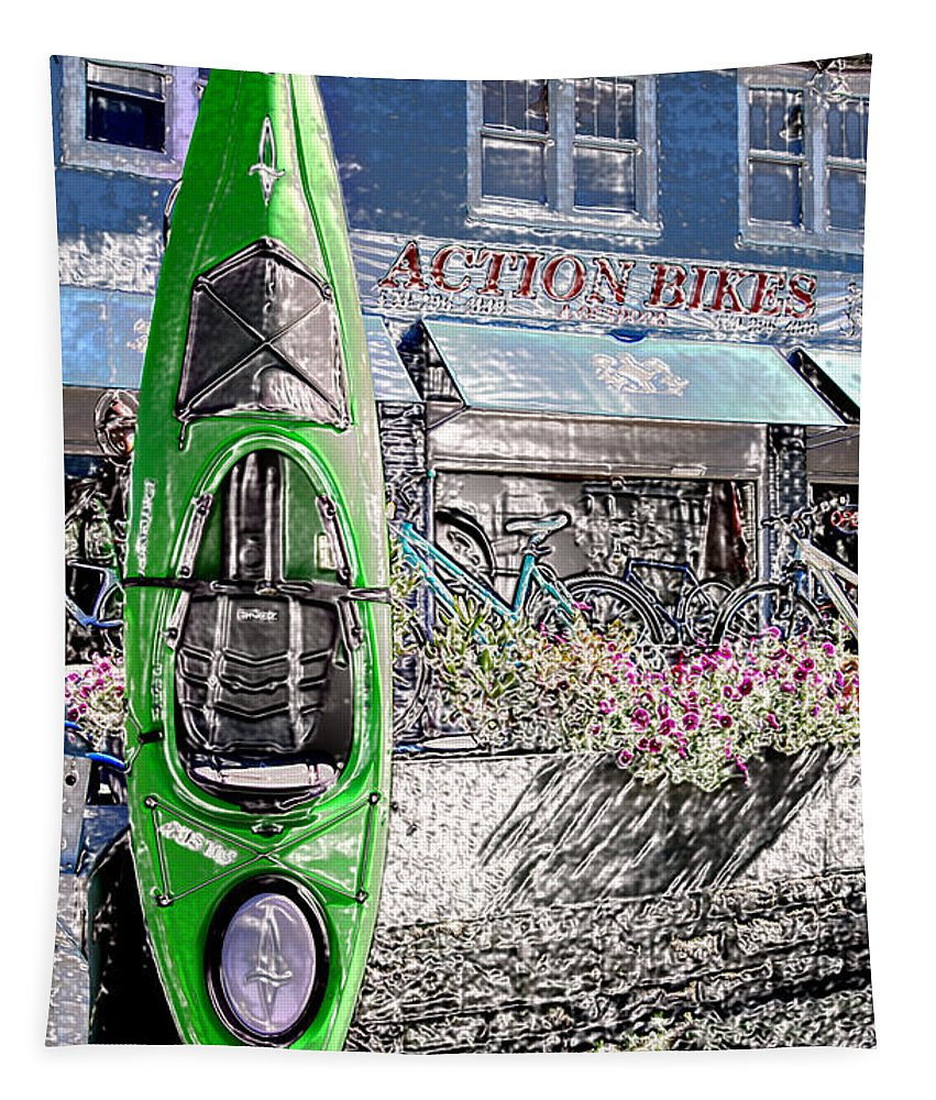 Action Tapestry featuring the photograph Action Bikes by Guy Harnett