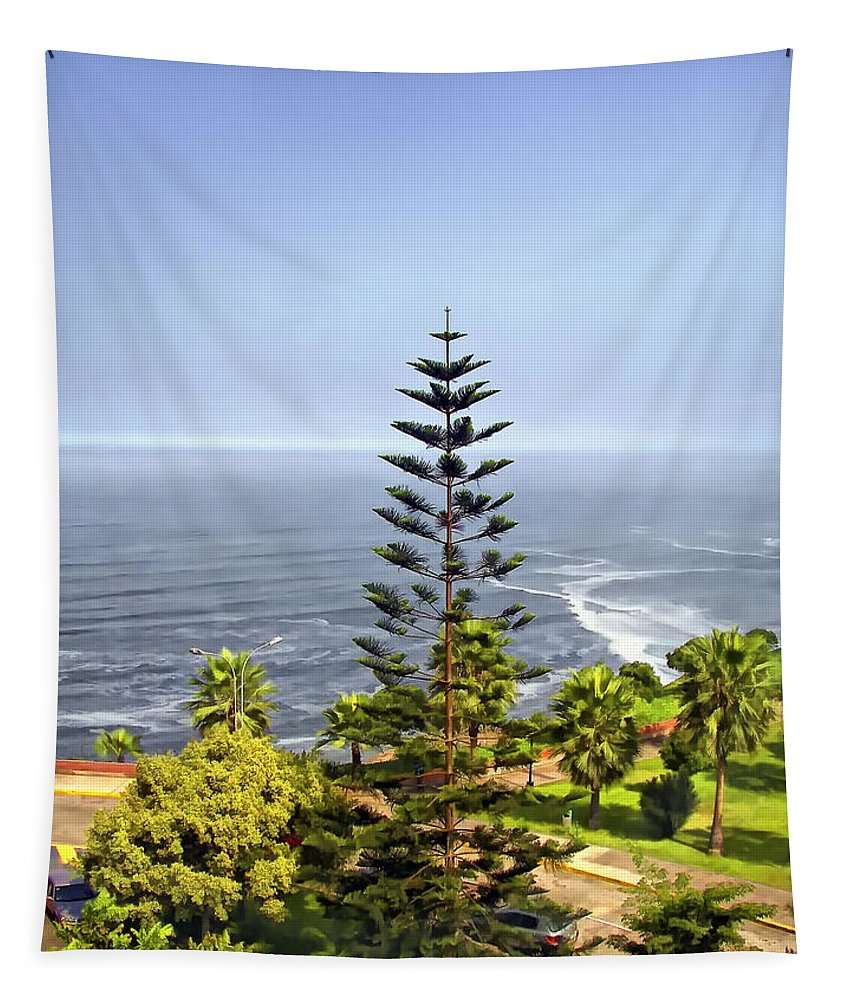 Peru Tapestry featuring the photograph Ah...peru by Steve Harrington