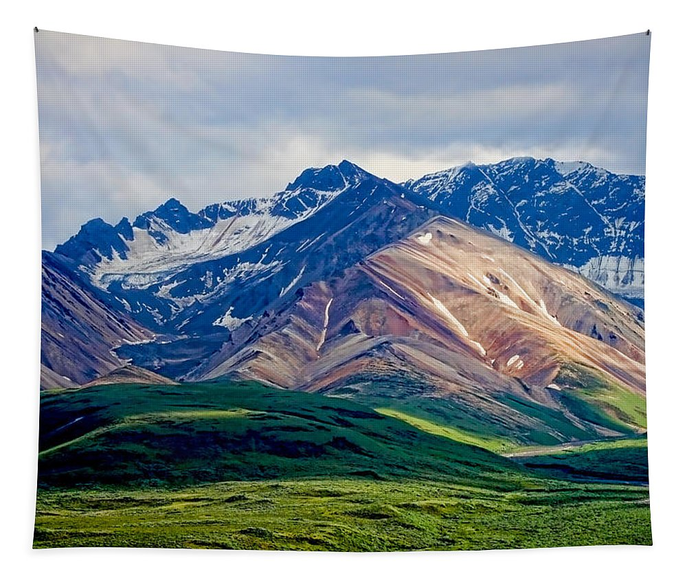 Denali Tapestry featuring the photograph Alaskan Range by Heather Applegate