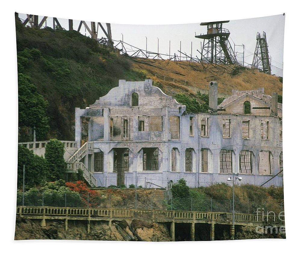 Alcatraz Tapestry featuring the photograph Alcatraz Skeleton by Paul W Faust - Impressions of Light