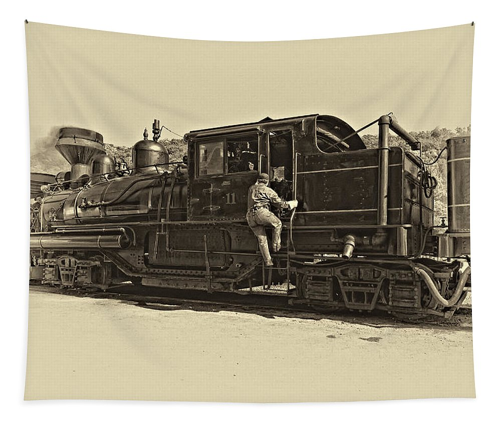 West Virginia Tapestry featuring the photograph All Aboard Antique by Steve Harrington