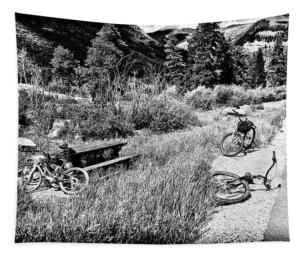 Bike Tapestry featuring the photograph All Fall Down by Madeline Ellis
