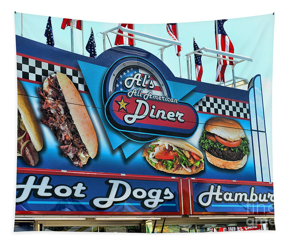 Al's All American Diner Tapestry featuring the photograph Al's All American Diner by Paul Ward