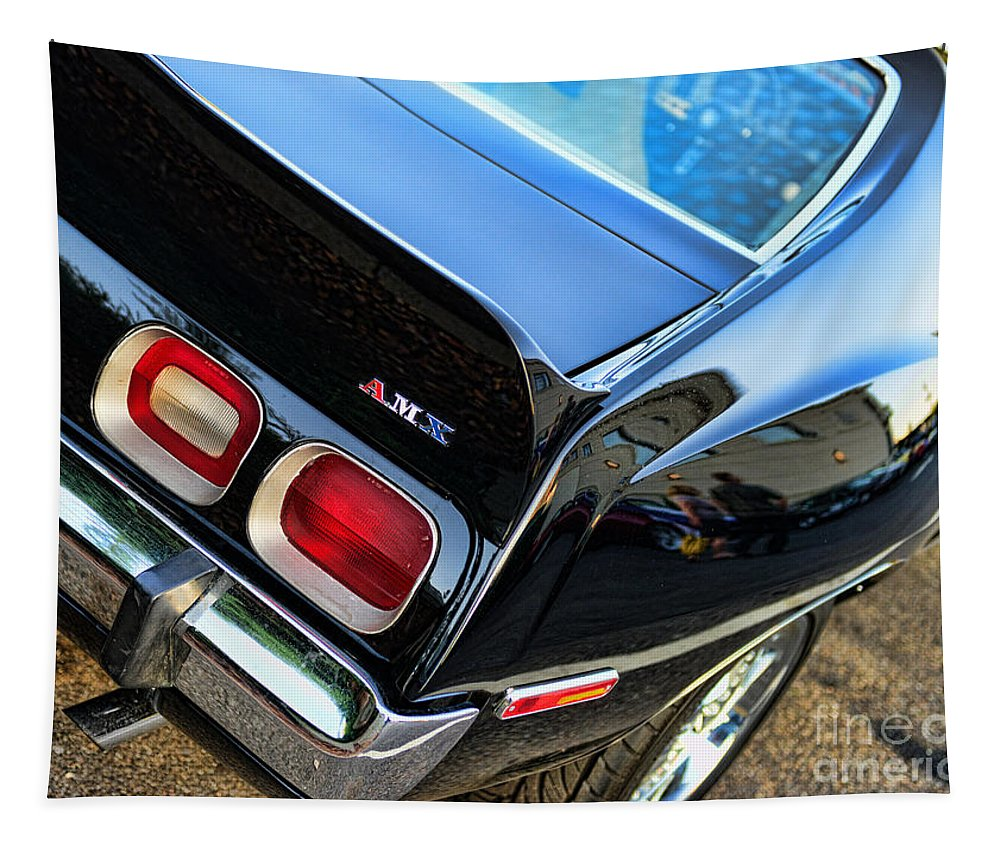 1974 Amc Javelin Front Tapestry featuring the photograph Amx Javelin Showing Spoiler by Paul Ward