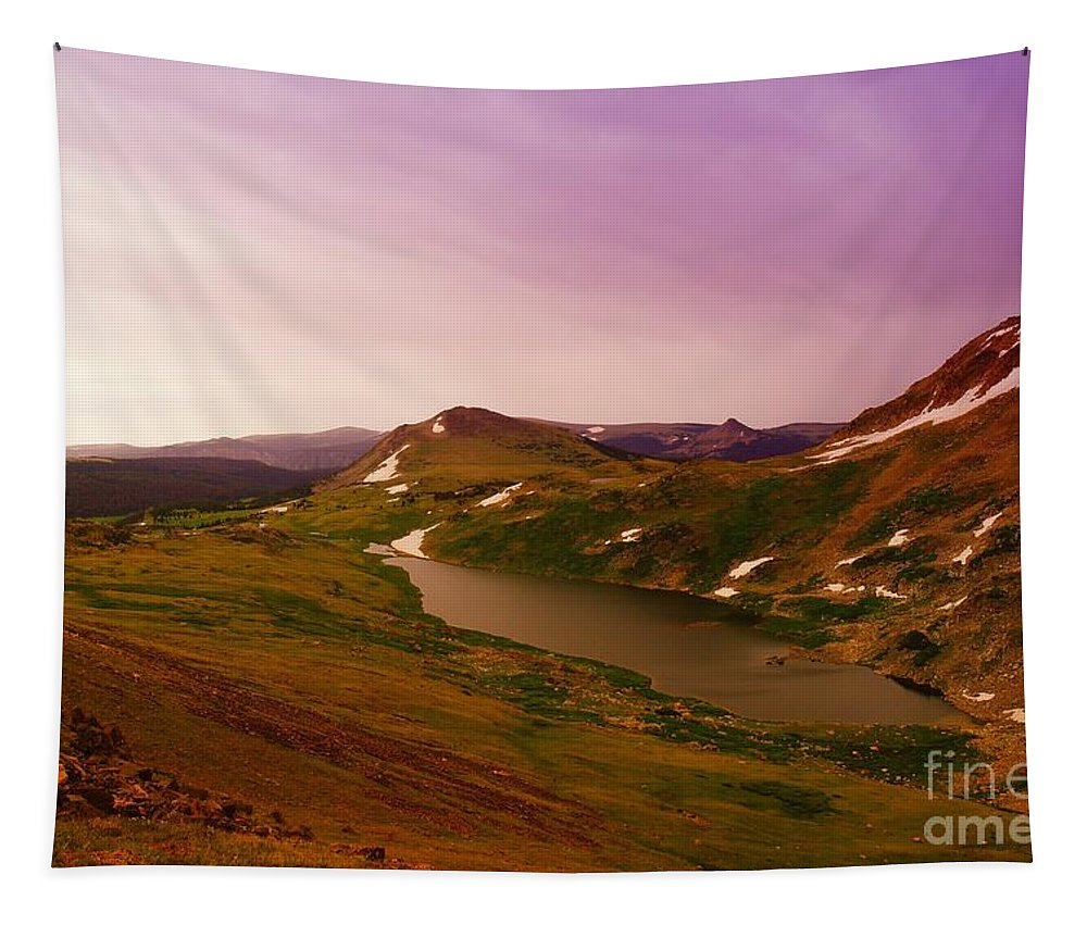Water Tapestry featuring the photograph An Alpine Lake On Beartooth Pass by Jeff Swan