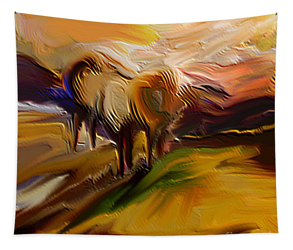 Morning Tapestry featuring the digital art An Early Morning by Dragica Micki Fortuna