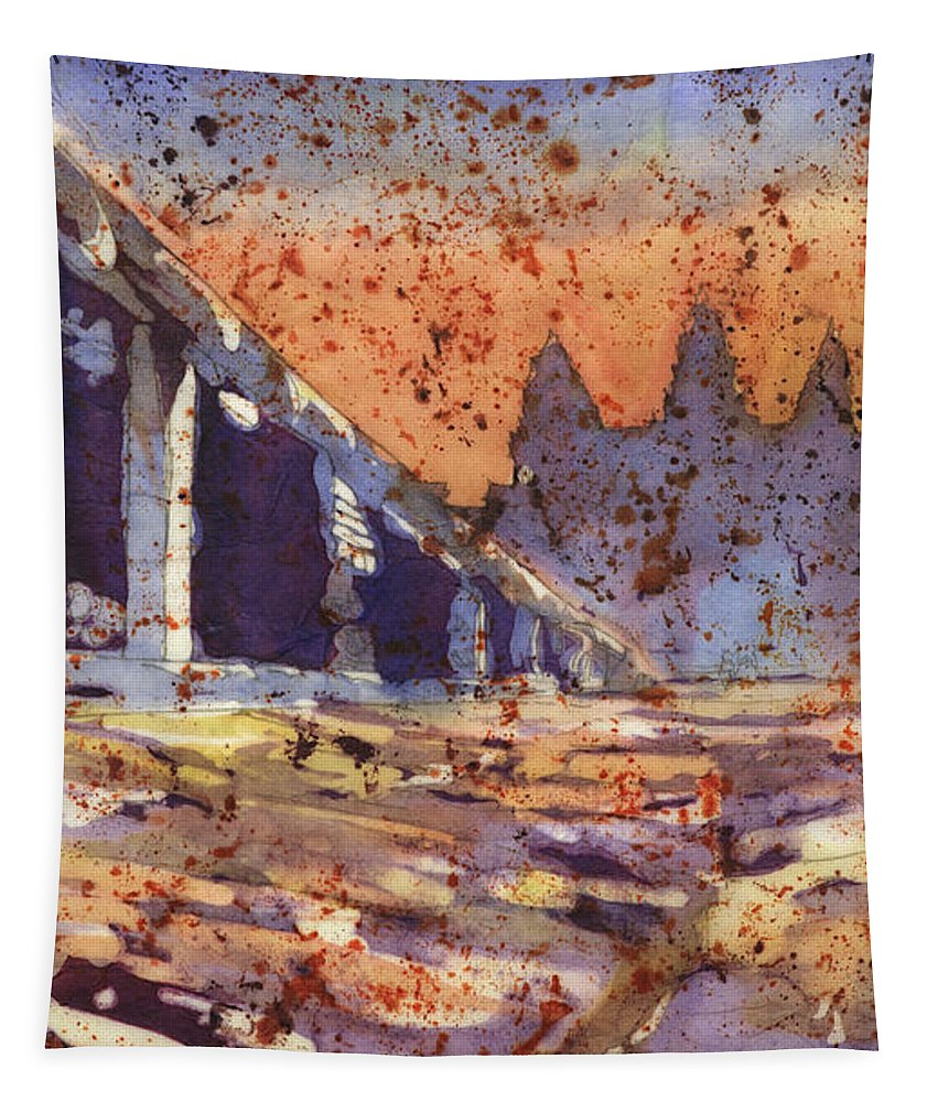 Alvaro Castagnet Tapestry featuring the painting Angkor Wat Sunrise by Ryan Fox