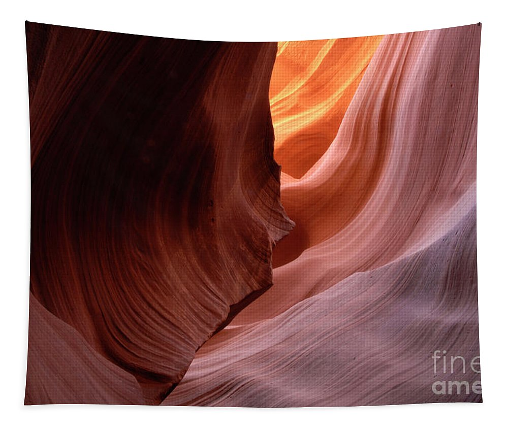 Antelope Canyon Tapestry featuring the photograph Antelope Canyon Written In Stone by Bob Christopher