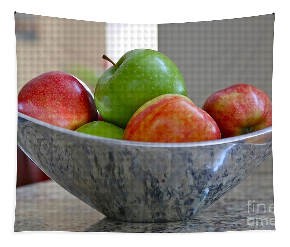 Apples Tapestry featuring the photograph Apples In Fruit Bowl by Carol Groenen