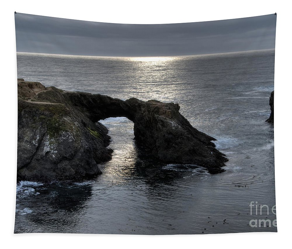 California Usa Tapestry featuring the photograph Arch Rock by Bob Christopher