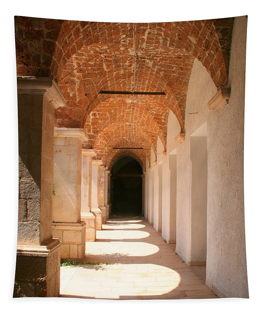 Arch Tapestry featuring the photograph Arches And Shadows by Laurel Talabere