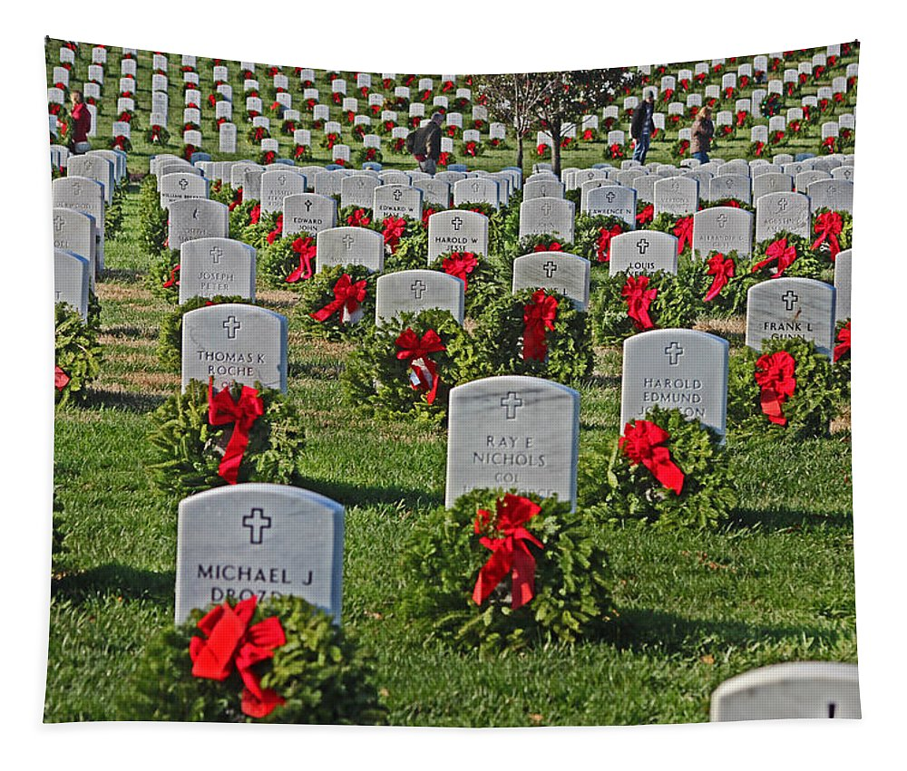 Arlinginton Tapestry featuring the photograph Arlington At Christmas by Tom Gari Gallery-Three-Photography
