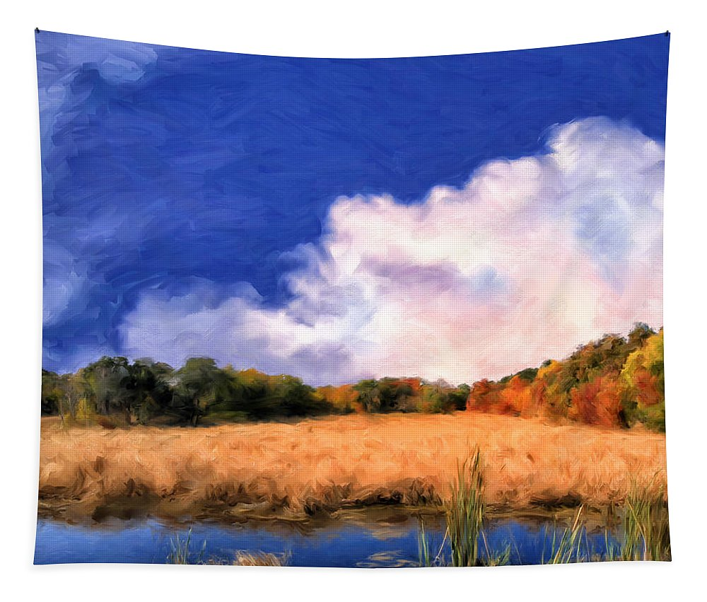 Autumn Tapestry featuring the painting Autumn On Isle Of Palms by Dominic Piperata