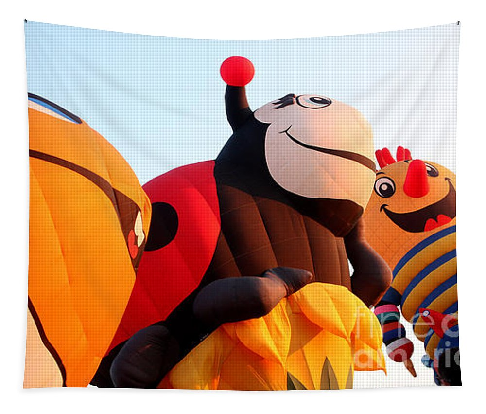 Hot Air Balloons Tapestry featuring the photograph Balloon-nemo-ladybug-jack-7648 by Gary Gingrich Galleries