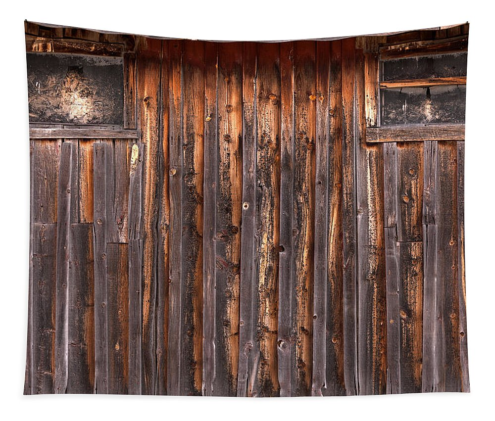 Wood Tapestry featuring the photograph Barnside Number 3 Grand Tetons by Steve Gadomski