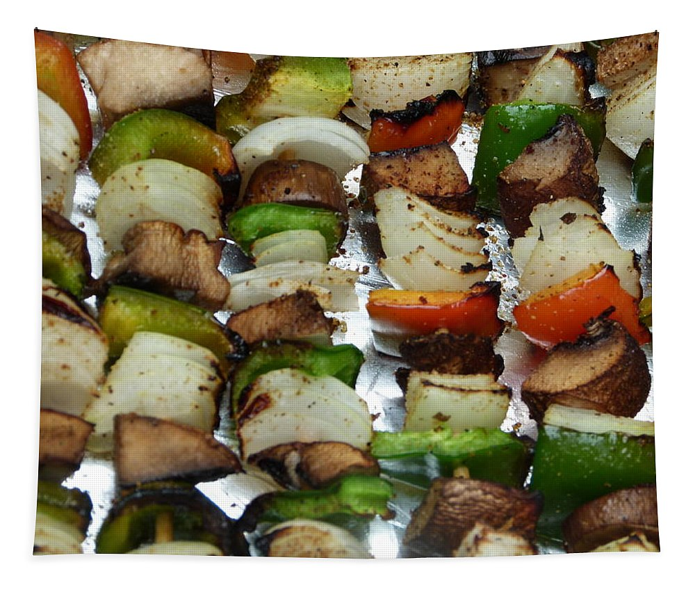 Fresh Tapestry featuring the photograph Bbq Grilled Vegetables by Richard Bryce and Family