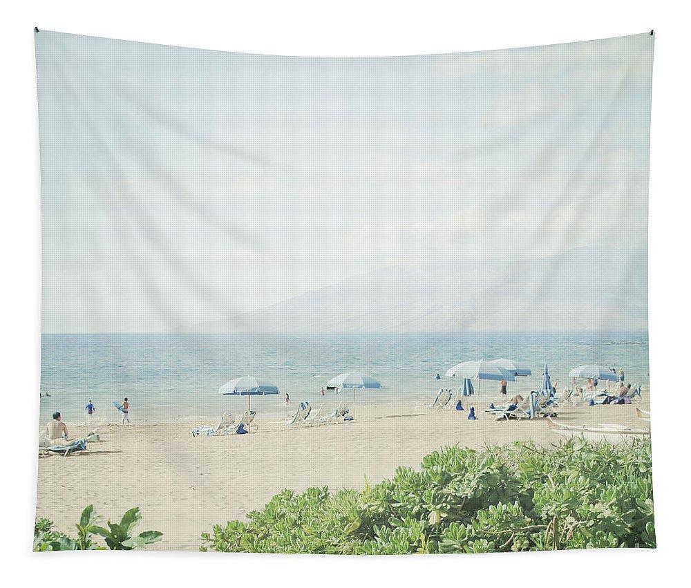 Aloha Tapestry featuring the photograph Beach At Wailea by Sharon Mau