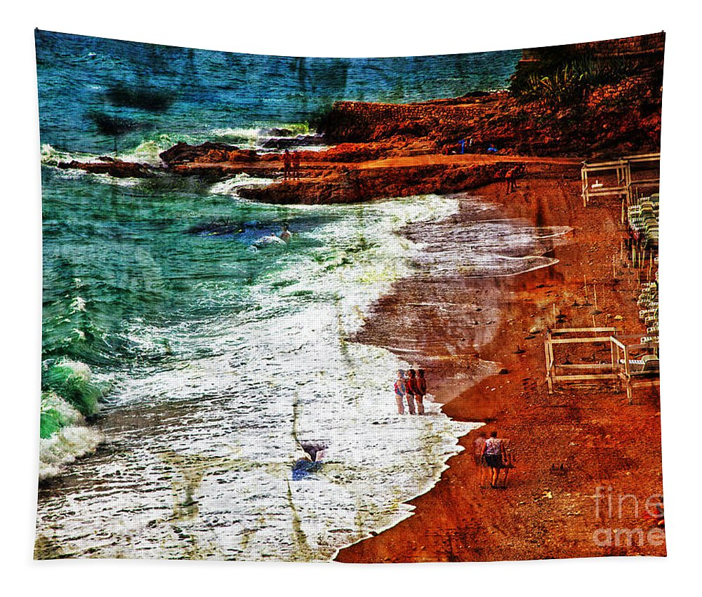 Beach Tapestry featuring the photograph Beach Fantasy by Madeline Ellis