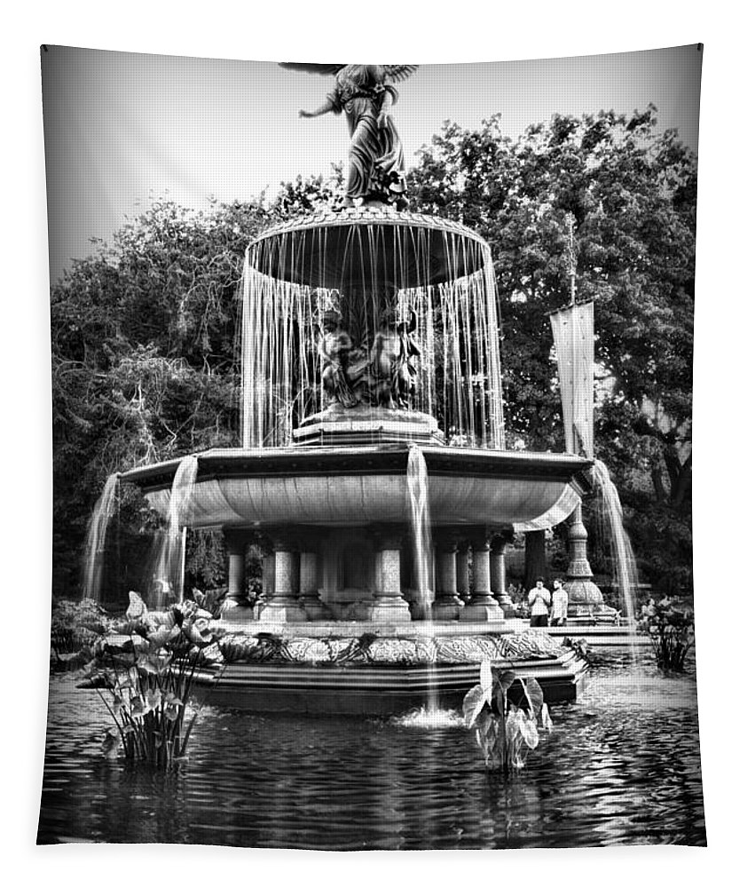 Bethesda Fountain Tapestry featuring the photograph Bethesda Fountain by Paul Ward
