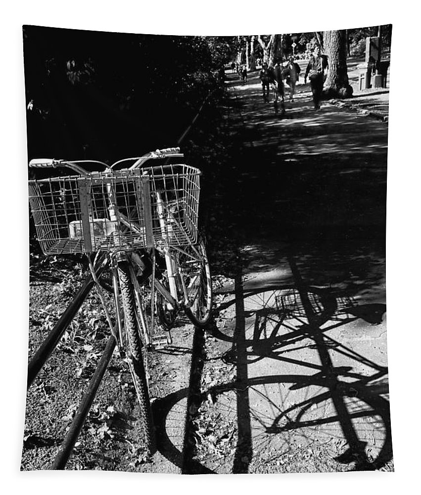 Bike Tapestry featuring the photograph Bicycle Shadow 2 by Madeline Ellis