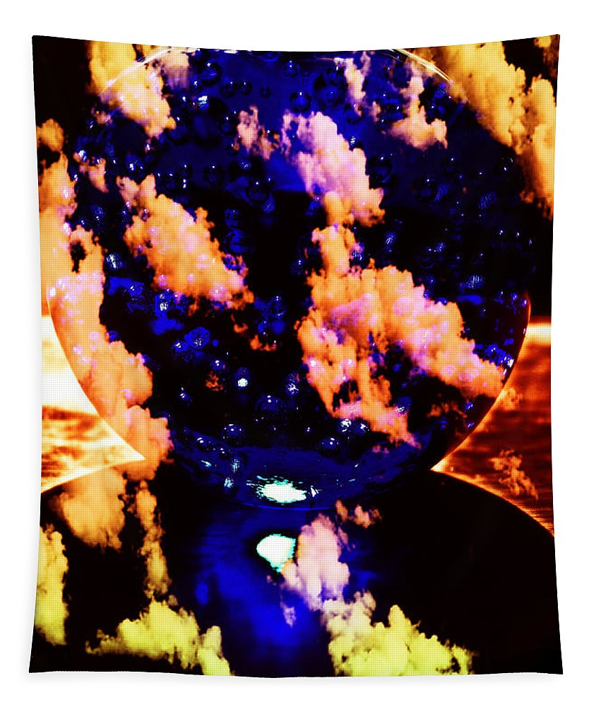 Blue Tapestry featuring the photograph Big Blue Globe Thingee by Mick Anderson