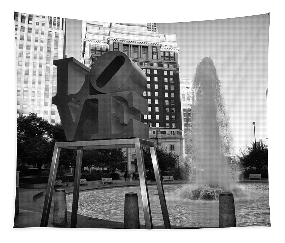 Black And White Love Tapestry featuring the photograph Black And White Love by Bill Cannon