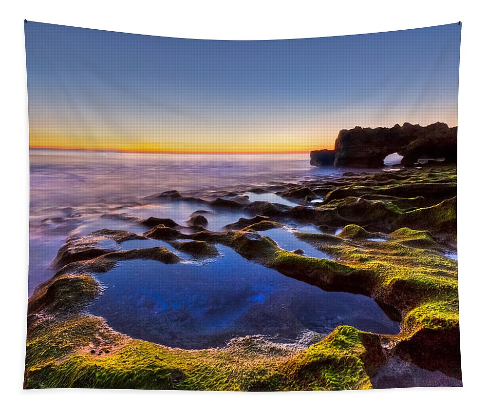 Blowing Rocks Tapestry featuring the photograph Blue Lagoon by Debra and Dave Vanderlaan